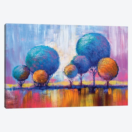 Colorful Trees IV Canvas Print #DPT283} by sbelov Canvas Art Print