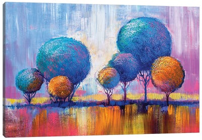 Colorful Trees IV Canvas Art Print