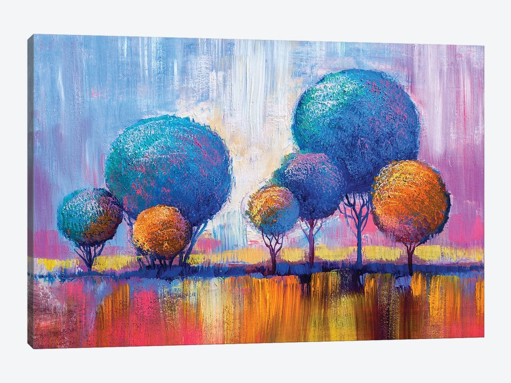 Colorful Trees IV by sbelov 1-piece Canvas Print