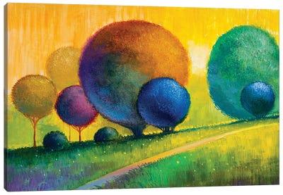 Colorful Trees V Canvas Art Print
