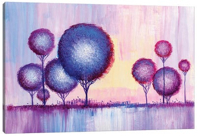 Colorful Trees VI Canvas Art Print
