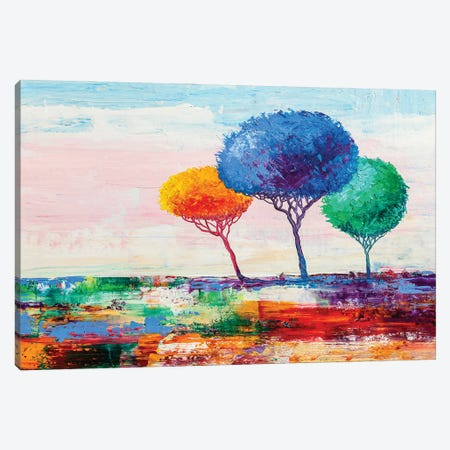 Colorful Trees VII Canvas Print #DPT286} by sbelov Canvas Art