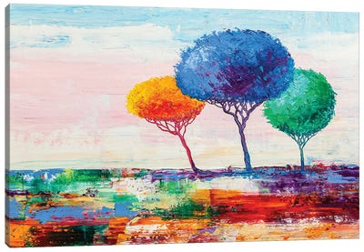 Colorful Trees VII Canvas Art Print