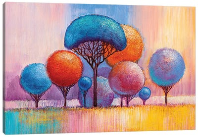 Colorful Trees VIII Canvas Art Print