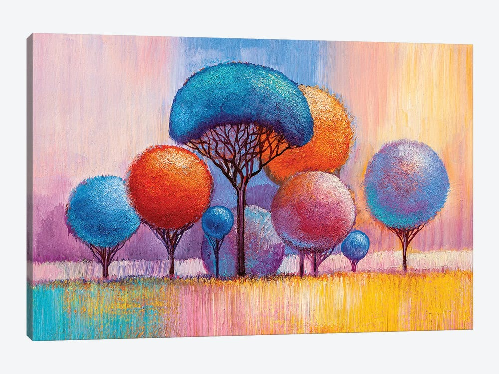Colorful Trees VIII by sbelov 1-piece Art Print