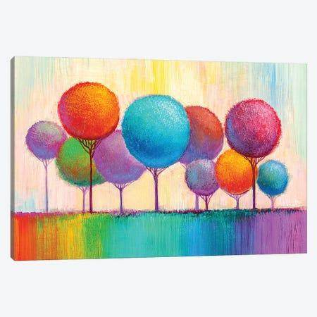 Colorful Trees IX Canvas Print #DPT288} by sbelov Canvas Print