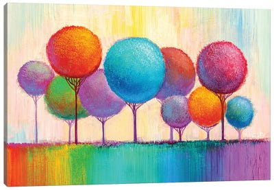Colorful Trees IX Canvas Art Print