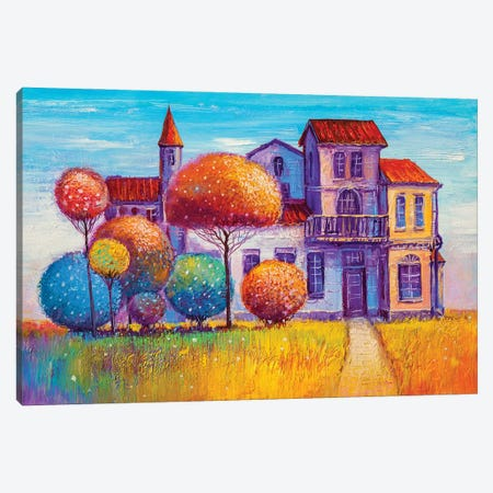 House In The Village Canvas Print #DPT289} by sbelov Canvas Print