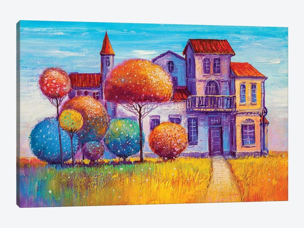 House In The Village by sbelov 1-piece Canvas Art Print