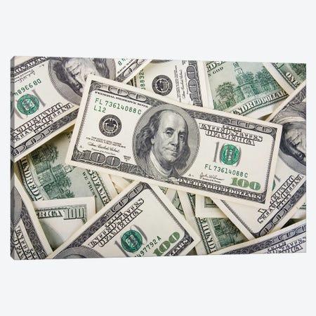 American Hundred Dollar Bills Canvas Print #DPT290} by scratch Canvas Wall Art