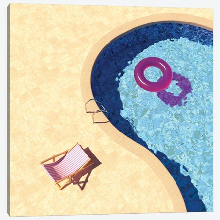 Swimming Pool Top View Canvas Print #DPT292} by Shenki Canvas Artwork