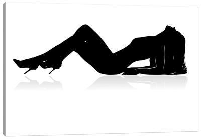 Sexy Woman Silhouette Canvas Art Print