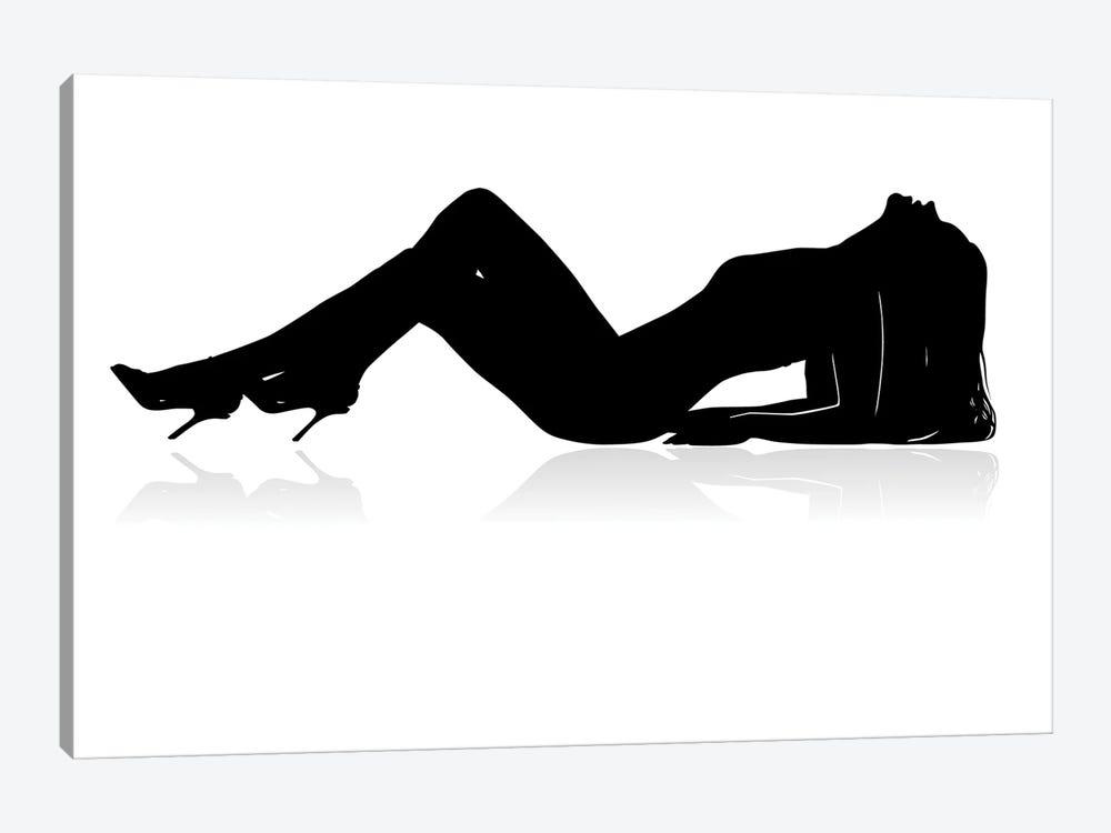 Sexy Woman Silhouette by SneSivan888 1-piece Canvas Art