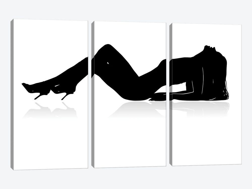Sexy Woman Silhouette by SneSivan888 3-piece Canvas Art