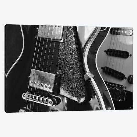 Electric Guitar Closeup On Dark Background Canvas Print #DPT311} by ValeriySound Art Print
