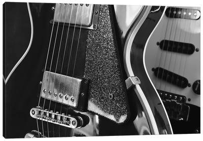 Electric Guitar Closeup On Dark Background Canvas Art Print