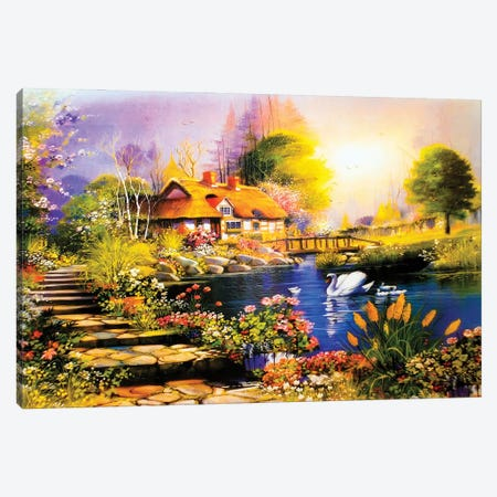 Landscape Painting Canvas Print #DPT312} by vasmedia Canvas Print