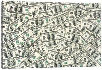 Money Background Canvas Art Print