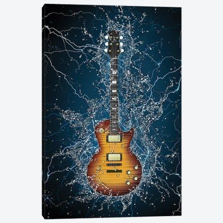 Electric Guitar Splash Canvas Print #DPT314} by VisualGeneration Canvas Artwork