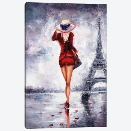 Woman In Paris Canvas Print #DPT31} by borojoint Art Print