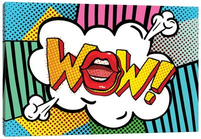 Wow Word Bubble Canvas Art Print