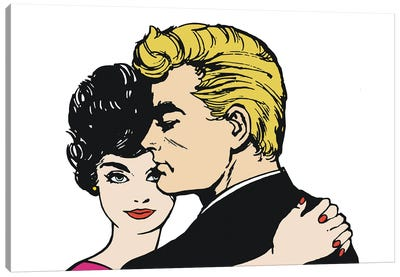 Illustration Of A Pair Of Lovers Canvas Art Print