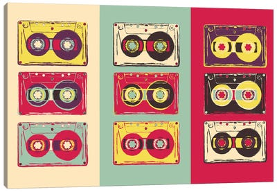 Cassettes Canvas Art Print