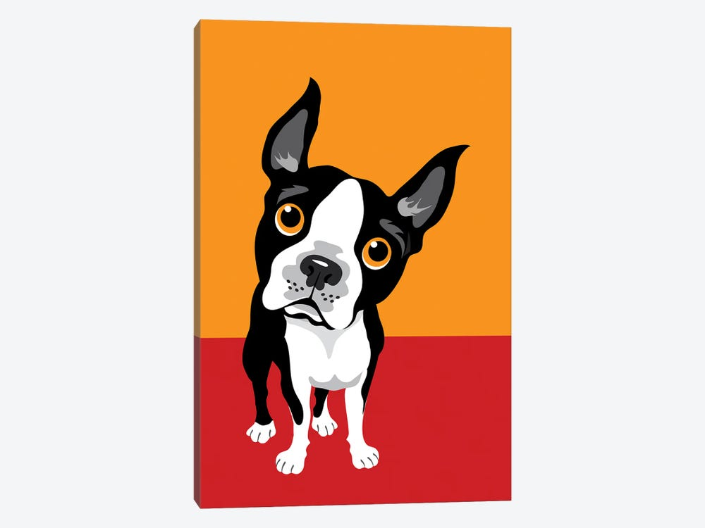 Funny Illustration Of Boston Terrier by Depositphotos 1-piece Canvas Art Print