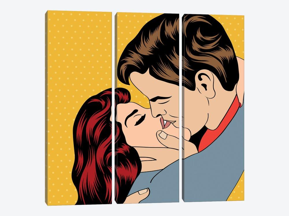 Pop Art Kissing Couple by Depositphotos 3-piece Canvas Art