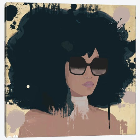 Woman With Sunglasses Canvas Print #DPT48} by Deeworxdesigns Canvas Artwork
