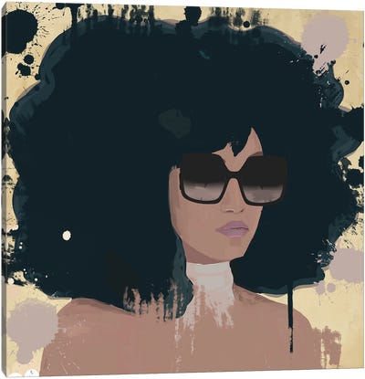 Woman With Sunglasses Canvas Art Print