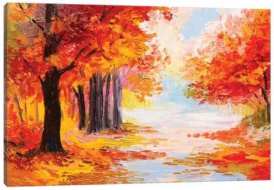 Colorful Autumn Forest Canvas Art Print