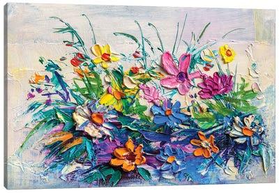 Bouquet Of Flowers . Canvas Art Print