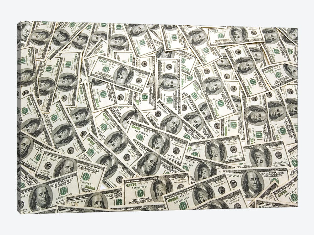 Lots Of Cash On The Table by Elnur 1-piece Canvas Art Print