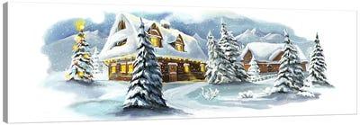 Christmas Fairy Tale Village Canvas Art Print
