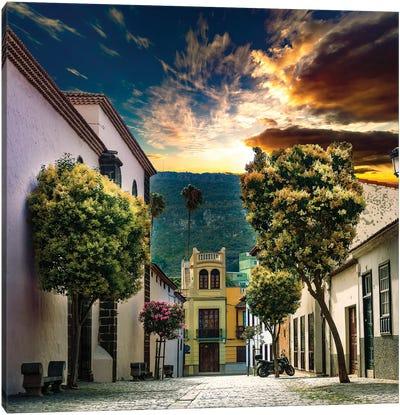Canary Islands.Tenerife,La Laguna Village Canvas Art Print