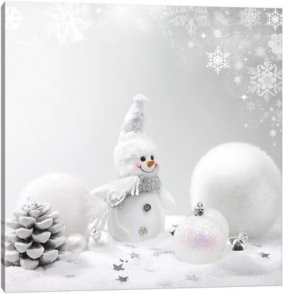 Christmas Background Canvas Art Print