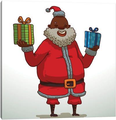 Black Santa Claus Canvas Art Print
