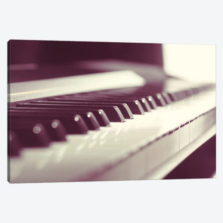 Classic Piano Keyboard Close Up Canvas Print #DPT61} by Fotofabrika Canvas Artwork