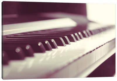 Classic Piano Keyboard Close Up Canvas Art Print