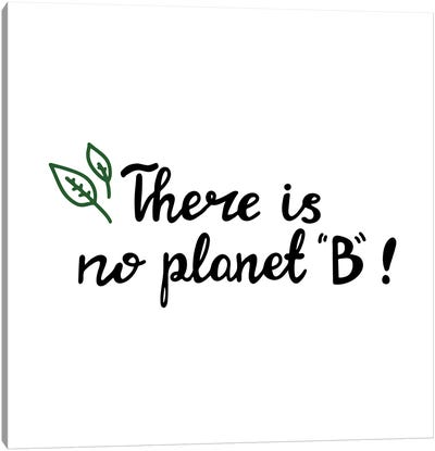There Is No Planet B Canvas Art Print