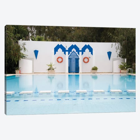 Swimming Pool In Fes, Morocco Canvas Print #DPT95} by jelen80 Canvas Wall Art