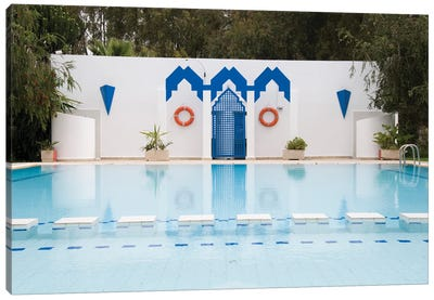 Swimming Pool In Fes, Morocco Canvas Art Print