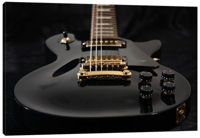 Close Up Of Electric Guitar Canvas Art Print