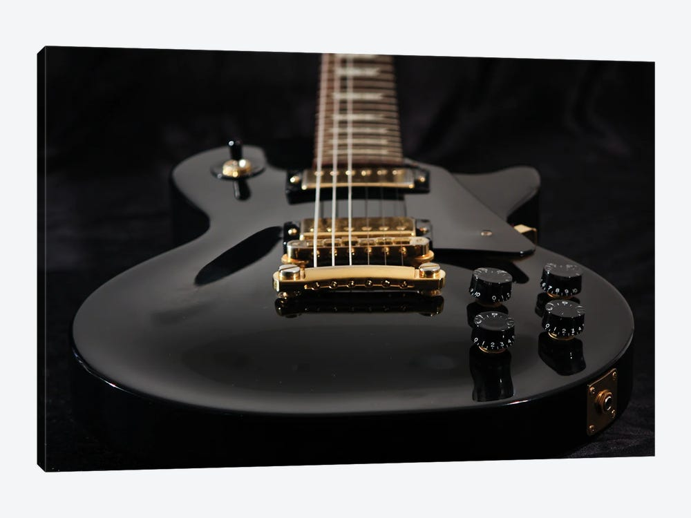 Close Up Of Electric Guitar by jrp studio 1-piece Art Print