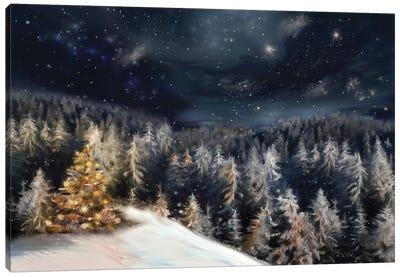 Christmas Landscape Canvas Art Print
