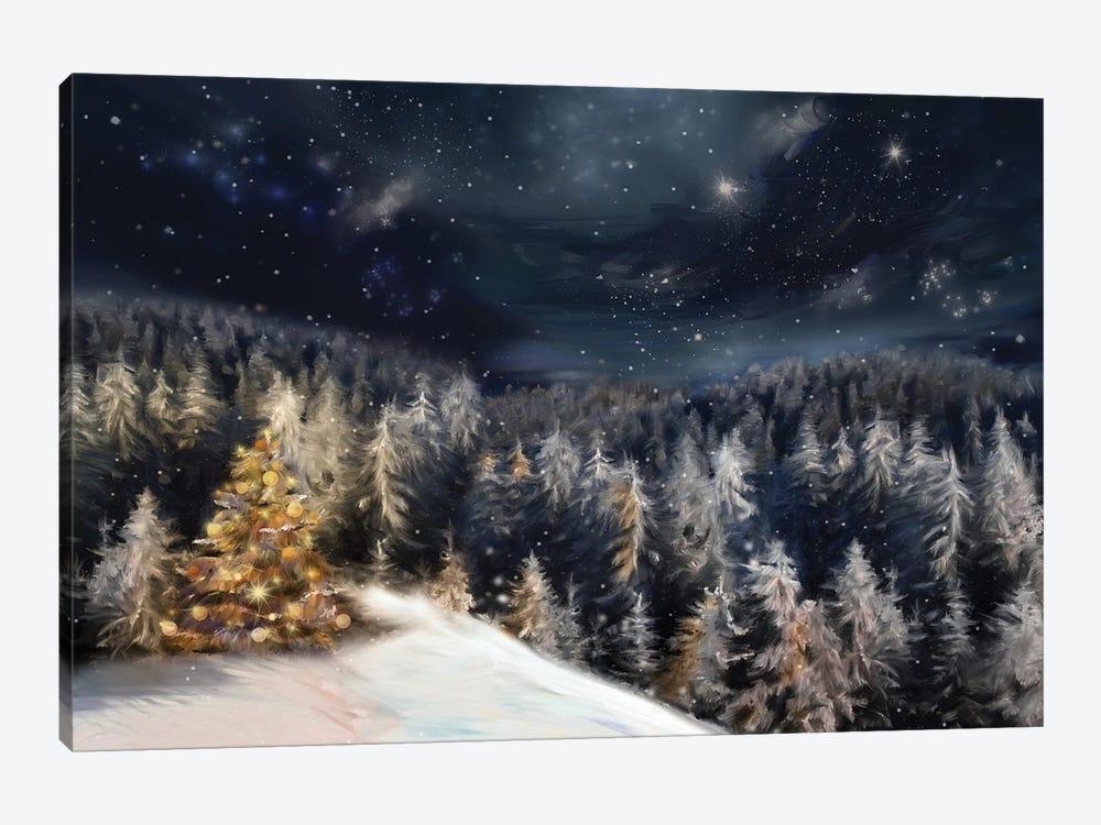 Christmas Landscape by JuliaSha 1-piece Canvas Artwork