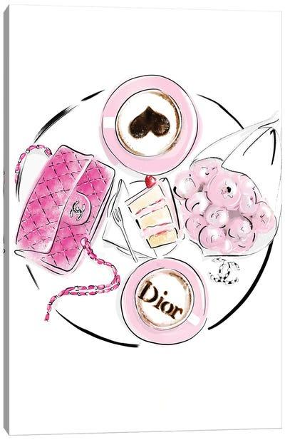 Dior Breakfast Canvas Art Print