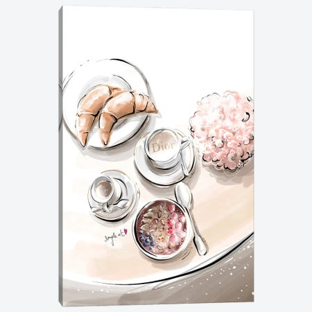 Dior Breakfast II Canvas Print #DPV12} by Daniela Pavlíková Canvas Art Print