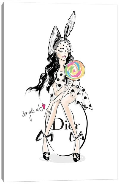 Easter Girl Canvas Art Print